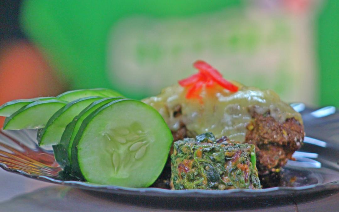 Chick Pea, Ground Beef & Kale Rollard