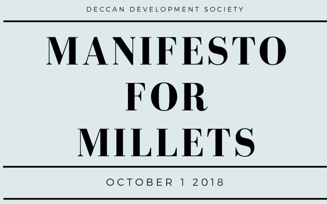 Manifesto for millets