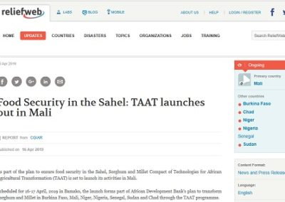 Food Security in the Sahel: TAAT launches out in Mali