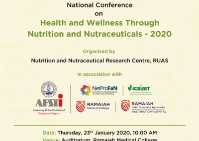 Ramaiah varsity to focus on health through nutra at meet from January 22