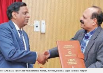 IIMR Hyderabad signs MoU with NSR to produce fuel from millets