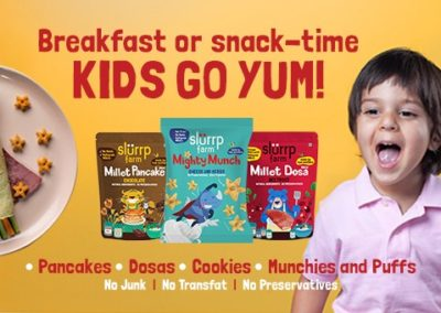 Millet-based packaged food start-up Slurrp Farm wants kids to eat healthy