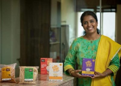 Deepa M makes healthy baby food, noodles and sevai with millets