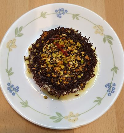 Turkish Kunufe with Millet Vermicelli