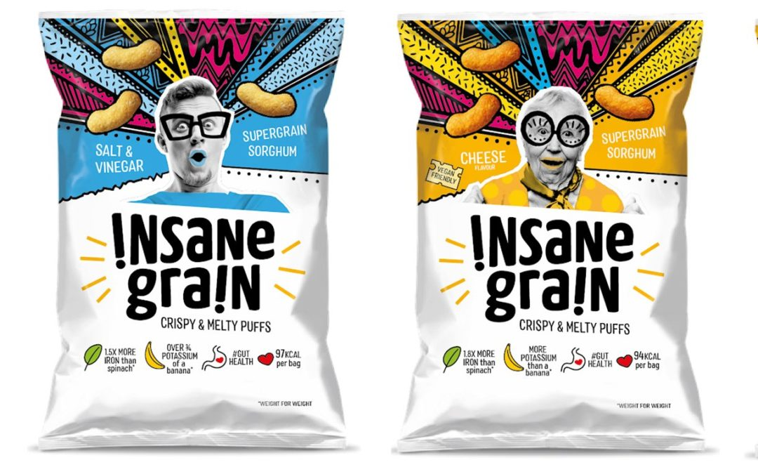 UK start-up Insane Grain launches puff snacks made from sorghum
