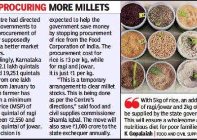 In Karnataka, ragi and jowar to replace rice under Anna Bhagya
