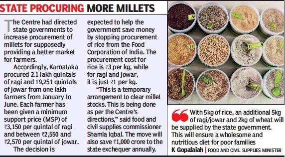 In Karnataka, ragi and jowar to replace rice under Anna Bhagya