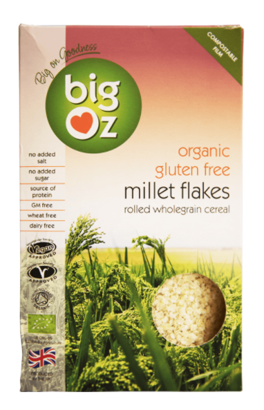 Organic Gluten Free Millet Flakes by Big Oz
