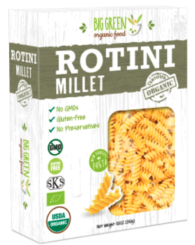 Organic Rotini Millet by BGreen Food
