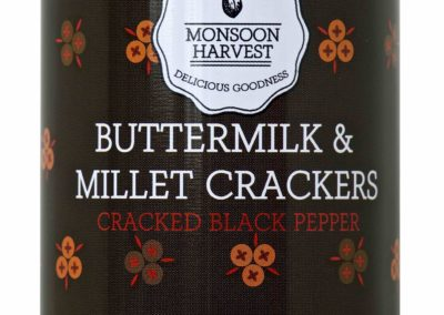 Butter Milk  & Millet Crackers, Pepper by Moonsoon Harvest