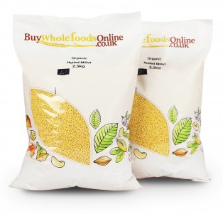 Organic Hulled Millet by buywholefoodsonline.co.uk
