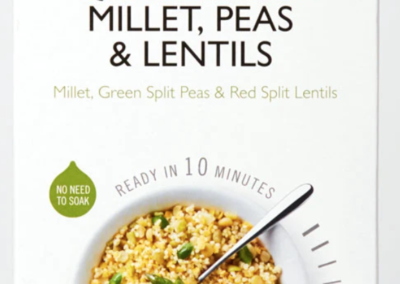 Quick Cook Organic – Millet, Peas & Lentils by Clear Spring