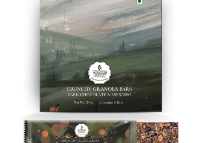 Crunchy Granola Bar Dark Chocolate by Moonsoon Harvest