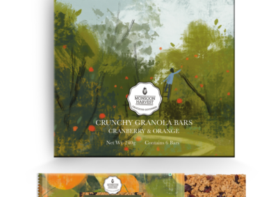 Crunchy Granola Bar Orange by Monsoon Harvest