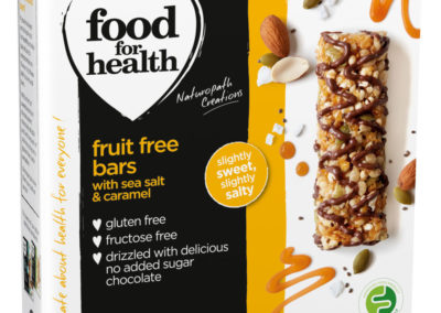 Fruit Free Bar with Sea Salt and Caramel by Food for Health