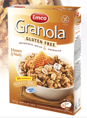 Gluten Free Granola Honey and Nuts by EMCO