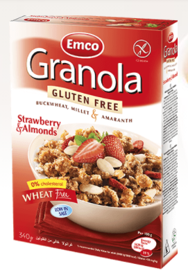 Gluten Free Granola Strawberry and Almonds by EMCO