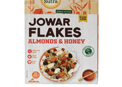 Jowar Flakes Almonds Honey by Health Sutra, Fountainhead Foods