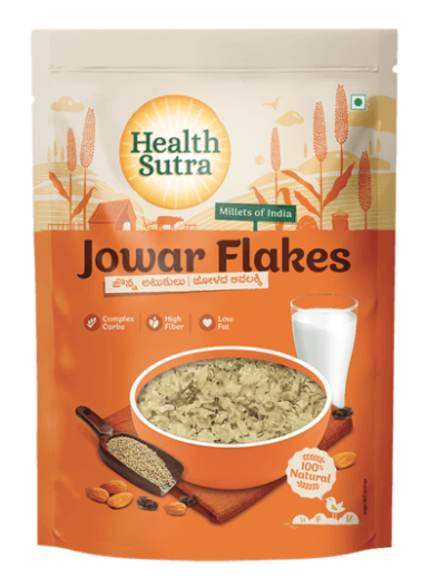 Jowar Flakes by Health Sutra, Fountainhead Foods