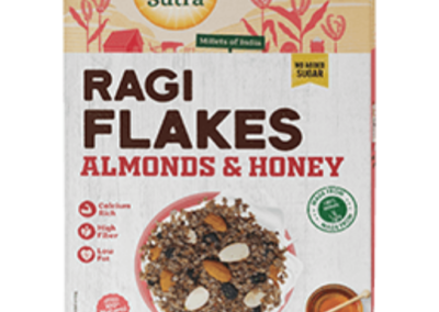 Ragi Flakes Almond Honey by Health Sutra, Fountainhead Foods