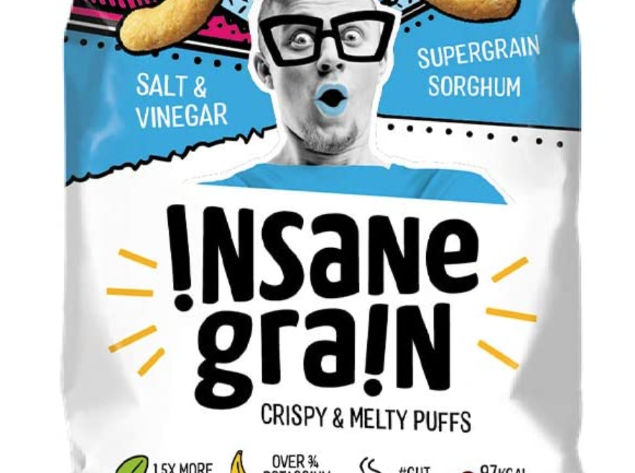 Salt & Vinegar Sorghum Supergrain Puffs by Insane Grain