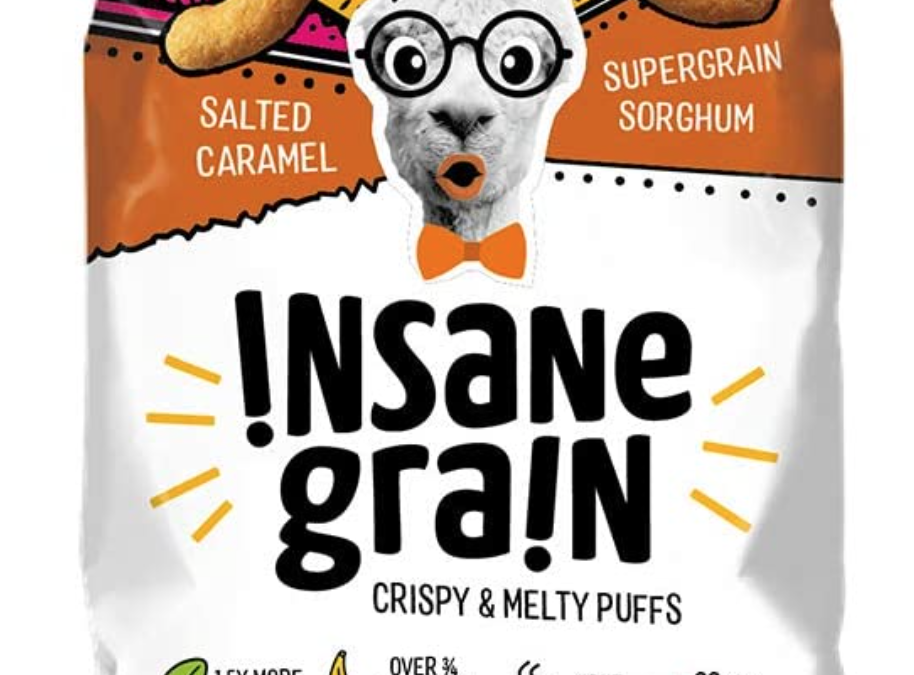 Salted Caramel Sorghum Supergrain Puffs by Insane Grain