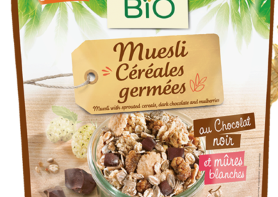 Organic sprouted cereal muesli by Jardin Bio