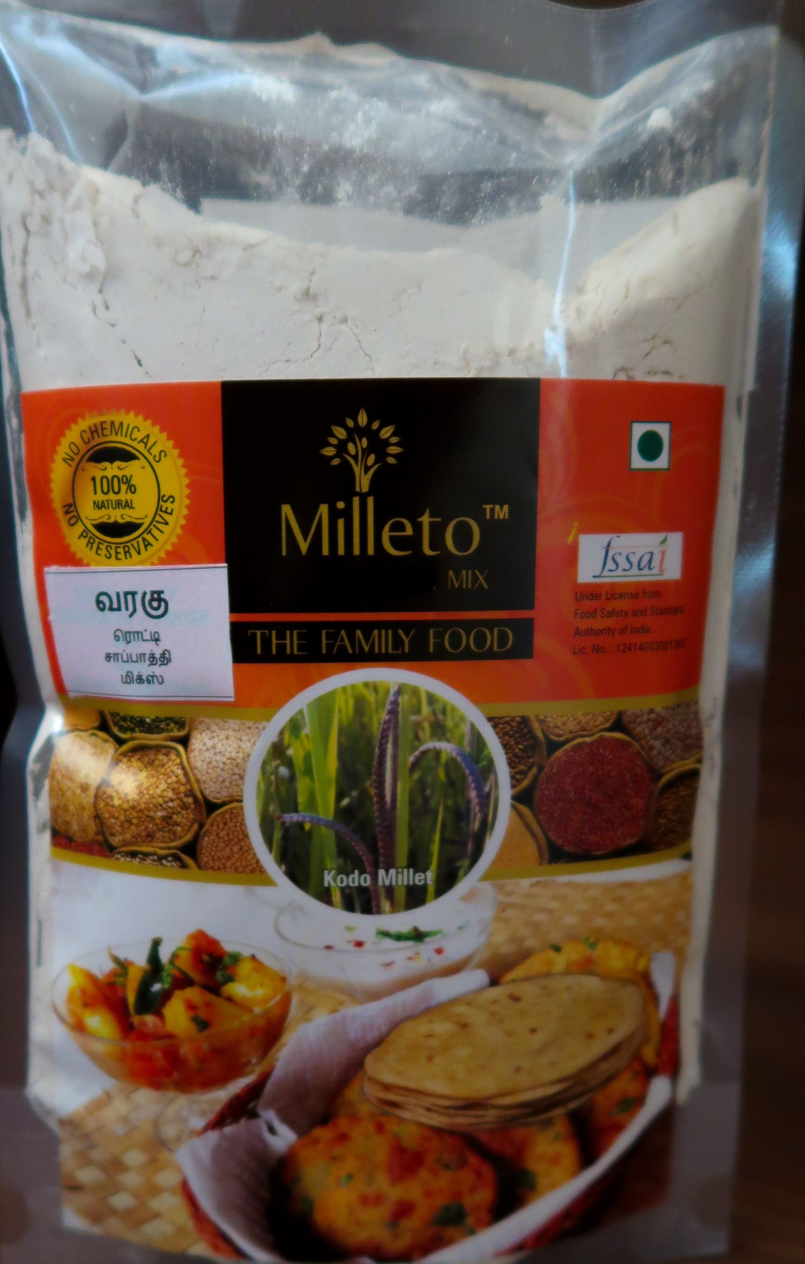 Kodo Millet Chapati Mix by Milleto, Adhisurya Foods