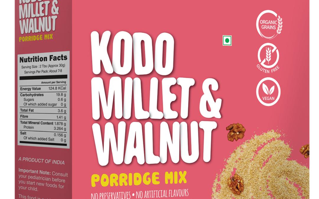Kodo Millet Walnut Porridge Mix by Early Foods