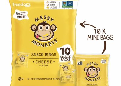 Messy Monkeys Cheese Snack Rings by Freedom Foods Pty Ltd