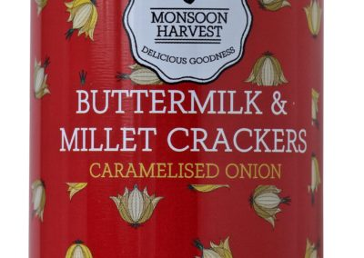 Butter Milk and Millet Crackers Onion by Monsoon Harvest