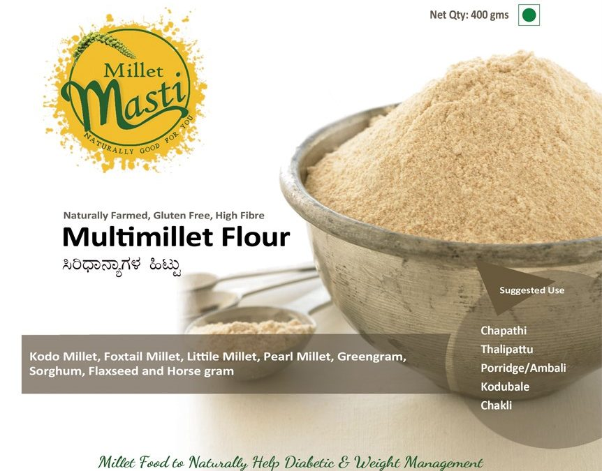 Multi Millet Flour by Millet Masti, Purnashraddha