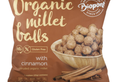 Organic Millet Balls Cinnamon Flavoured by Biopont