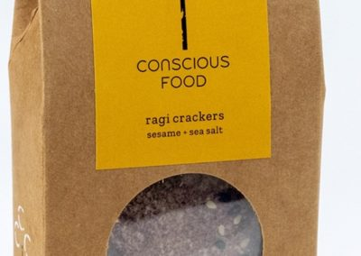 Ragi Crackers by Conscious Foods
