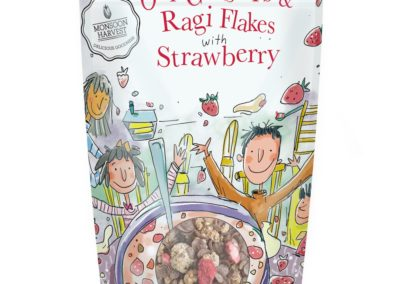 Ragi Flakes Strawberry by Monsoon Harvest