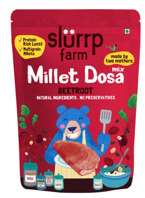 Millet Beetroot Dosa by Slurrp Farm