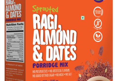 Sprouted Ragi Almond Date Porridge Mix by Early Foods
