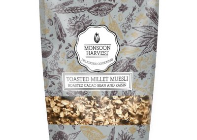 Toasted Millet Museli Roasted Cacao by Monsoon Harvest