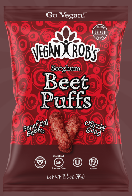 Sorghum Beet Puffs by Vegan Rob's