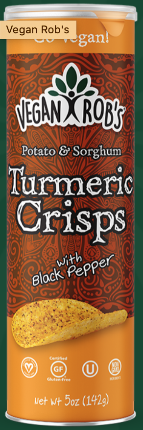 Sorghum Turmeric Crisps by Vegan Rob's