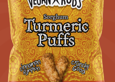 Sorghum Turmeric Puffs by Vegan Rob's