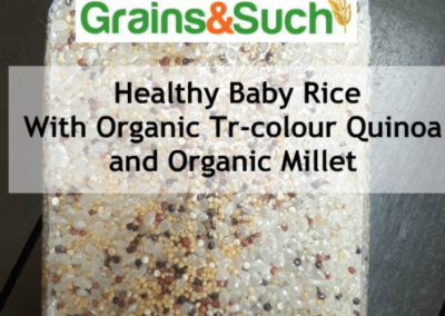 Healthy Baby Rice with Quinoa and Organic Millet by Grains&Such