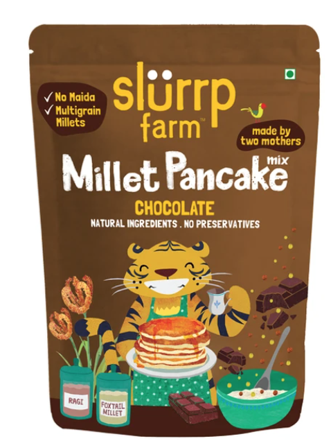 Chocolate Millet Pancake by Slurrp Farm