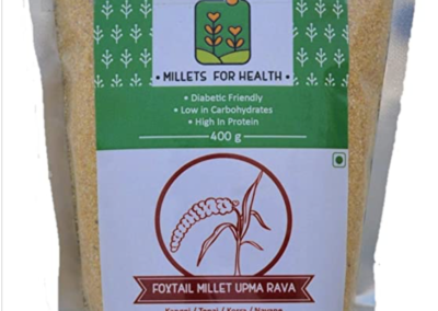 Foxtail Millet Upma Rava by Millets for Health
