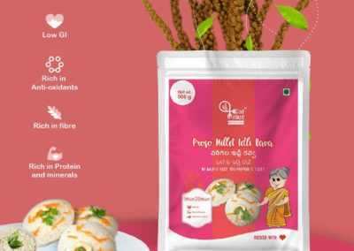 Proso Millet Idly Rava by Eat Millet, Coastal Foods