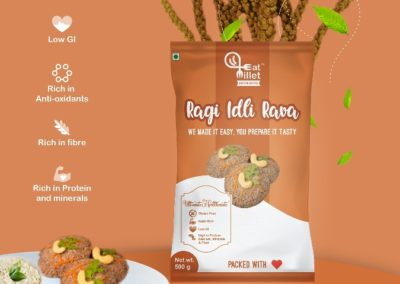 Ragi Idly Rava by Eat Millet, Coastal Foods