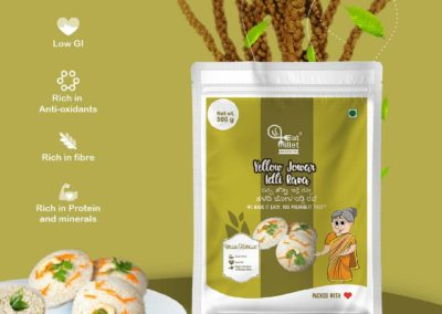 Yellow Jowar Idly Rava by Eat Millets, Coastal Foods