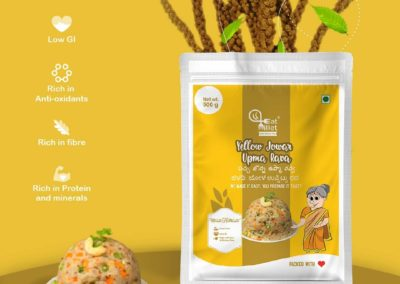Yellow Jowar Upma Rava by Eat Millets, Coastal Foods