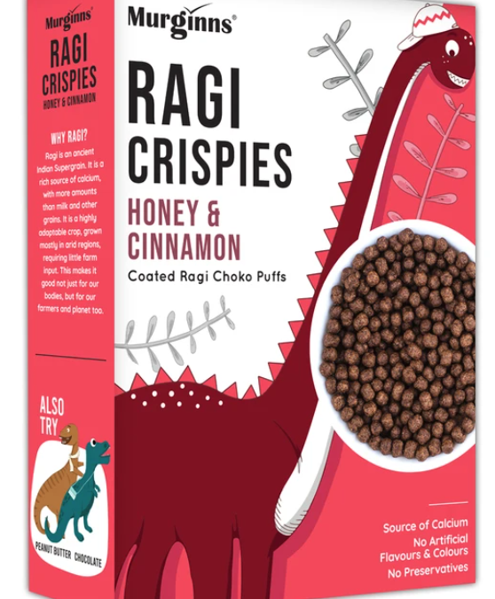 Ragi Crispies honey and cinnamon flavour by Murginns