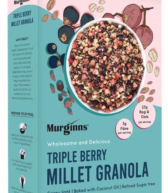 Triple berry millet granola by Murginns